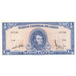 Chili - Pick 134Aa_2 - 1/2 escudo - 1967 - Etat : NEUF
