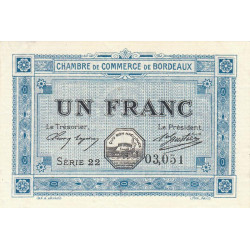 Bordeaux - Pirot 30-14 - 1 franc - 1917 - Etat : SPL