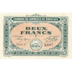 Bordeaux - Pirot 30-17 - 2 francs - 1917 - Etat : SPL