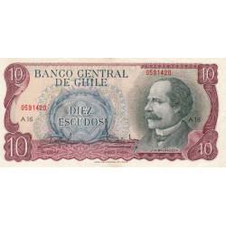Chili - Pick 142_1 - 10 escudos - 1970 - Etat : TTB+