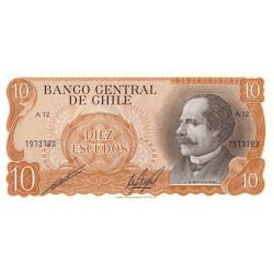 Chili - Pick 143_2 - 10 escudos - 1973 - Etat : NEUF