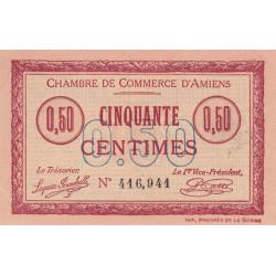 Amiens - Pirot 7-26 - 50 centimes - 1915 - Etat : SPL