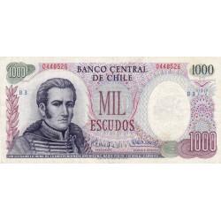 Chili - Pick 146_1 - 1'000 escudos - 1973 - Etat : TB+