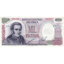 Chili - Pick 146_2 - 1'000 escudos - 1974 - Etat : TTB