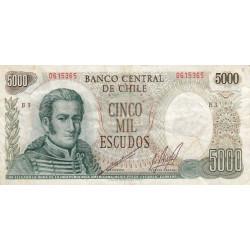 Chili - Pick 147b1 - 5'000 escudos - 1973 - Etat : TB