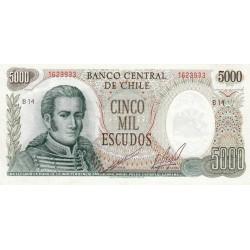 Chili - Pick 147b1 - 5'000 escudos - 1973 - Etat : SUP