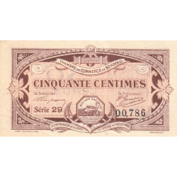 Bordeaux - Pirot 30-20 - 50 centimes - Série 29 - 1917 - Etat : TTB