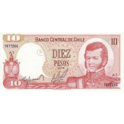 Chili - Pick 150b1 - 10 pesos - 1975 - Etat : NEUF