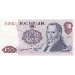 Chili - Pick 152b_2 - 100 pesos - 1977 - Etat : TTB