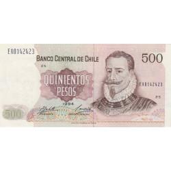 Chili - Pick 153e_1 - 500 pesos - 1994 - Etat : SPL