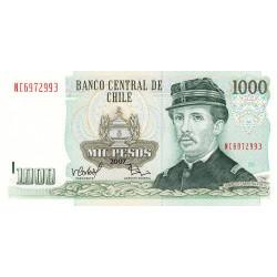Chili - Pick 154g3 - 1'000 pesos - 2007 - Etat : NEUF