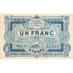 Bordeaux - Pirot 30-21 - 1 franc - 1917 - Etat : TTB+