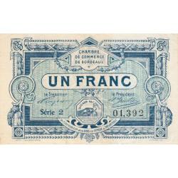 Bordeaux - Pirot 30-21 - 1 franc- Série 2 - 1917 - Etat : TTB+