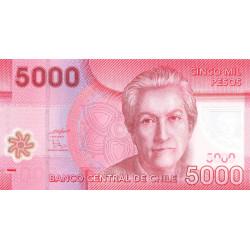 Chili - Pick 163a - 5'000 pesos - Polymère - 2009 - Etat : NEUF