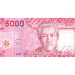 Chili - Pick 163b - 5'000 pesos - Polymère - 2011 - Etat : NEUF