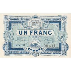 Bordeaux - Pirot 30-21 - 1 franc - 1917 - Etat : SUP