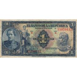 Colombie - Pick 380a - 1 peso oro - 20/07/1929 - Etat : TB-