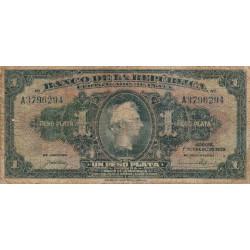 Colombie - Pick 382 - 1 peso plata - 01/01/1932 - Etat : B-