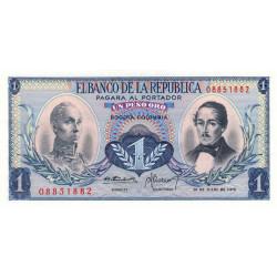 Colombie - Pick 404e4 - 1 peso oro - 20/07/1972 - Etat : NEUF