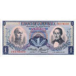 Colombie - Pick 404e5 - 1 peso oro - 07/08/1973 - Etat : NEUF
