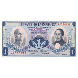 Colombie - Pick 404e6 - 1 peso oro - 07/08/1974 - Etat : NEUF