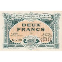 Bordeaux - Pirot 30-23 - 2 francs- Série 23 - 1917 - Etat : SUP