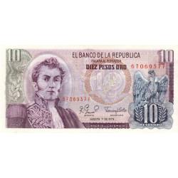 Colombie - Pick 407g1 - 10 pesos oro - 07/08/1979 - Etat : NEUF