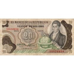 Colombie - Pick 409a4 - 20 pesos oro - 01/05/1973 - Etat : TB