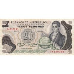 Colombie - Pick 409d3 - 20 pesos oro - 01/01/1982 - Etat : TB+