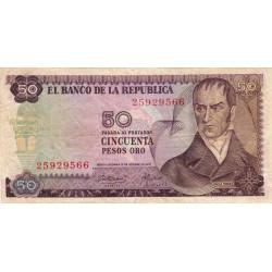 Colombie - Pick 412b - 50 pesos oro - 12/10/1970 - Etat : TB+