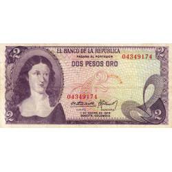 Colombie - Pick 413a3 - 2 pesos oro - 01/01/1973 - Etat : TB+