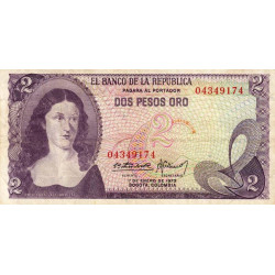 Colombie - Pick 413a_3 - 2 pesos oro - 1973 - Etat : TB+