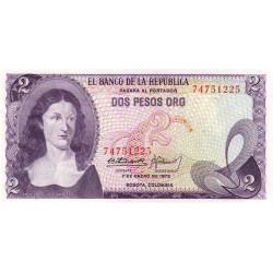 Colombie - Pick 413a_3 - 2 pesos oro - 1973 - Etat : NEUF