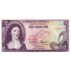 Colombie - Pick 413b_3 - 2 pesos oro - 1977 - Etat : NEUF