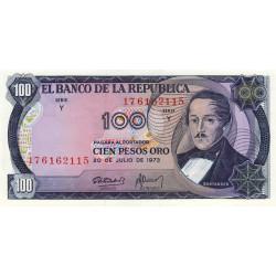 Colombie - Pick 415_1 - 100 pesos oro - 01/01/1973 - Etat : NEUF