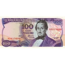 Colombie - Pick 418a - 100 pesos oro - 01/01/1977 - Etat : NEUF