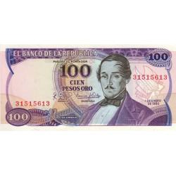 Colombie - Pick 418b - 100 pesos oro - 01/01/1980 - Etat : NEUF
