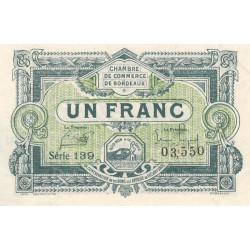 Bordeaux - Pirot 30-26 - 1 franc - 1920 - Etat : SPL