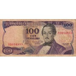 Colombie - Pick 418b - 100 pesos oro - 01/01/1980 - Etat : B+