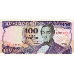 Colombie - Pick 418c - 100 pesos oro - 1980 - Etat : SPL+