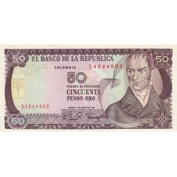 Colombie - Pick 422a2 - 50 pesos oro - 07/08/1981 - Etat : TTB+