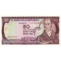 Colombie - Pick 422a2 - 50 pesos oro - 07/08/1981 - Etat : NEUF