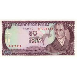 Colombie - Pick 425a1 - 50 pesos oro - 12/10/1984 - Etat : NEUF