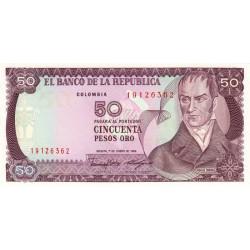 Colombie - Pick 425b - 50 pesos oro - 01/01/1986 - Etat : NEUF