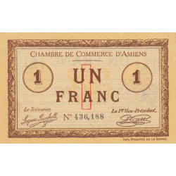 Amiens - Pirot 7-28 - 1 franc - 1915 - Etat : SPL