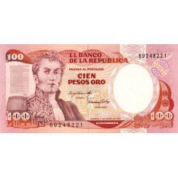 Colombie - Pick 426a_1 - 100 pesos oro - 1983 - Etat : NEUF