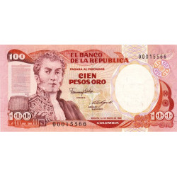 Colombie - Pick 426b_2 - 100 pesos oro - 1986 - Etat : NEUF