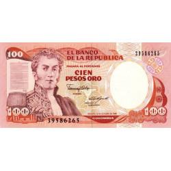 Colombie - Pick 426c1 - 100 pesos oro - 12/10/1986 - Etat : NEUF