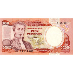 Colombie - Pick 426e_2 - 100 pesos oro - 1991 - Etat : NEUF