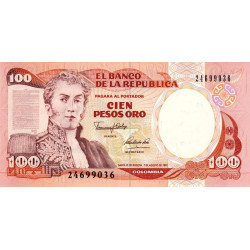 Colombie - Pick 426A - 100 pesos oro - 07/08/1991 - Etat : NEUF